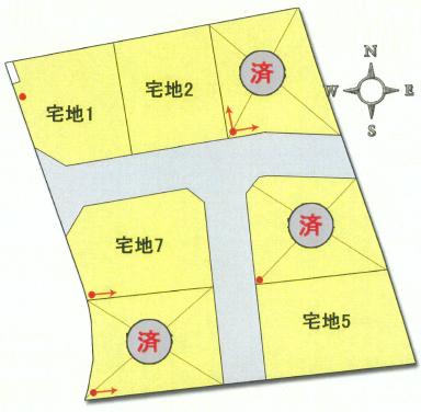 カンパネラタウン中泉町Ⅲの区画図