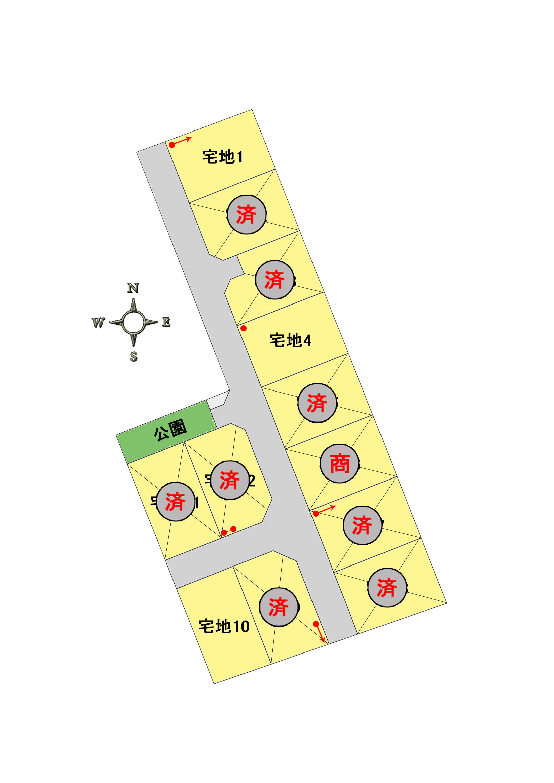 カンパネラタウン田島Ⅲの区画図